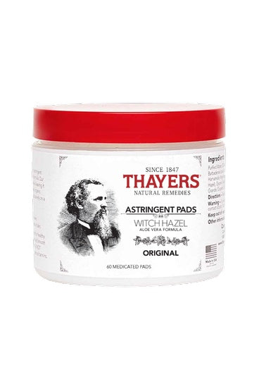 Personal Care - Thayers - Witch Hazel Astringent Pads, 60 Count