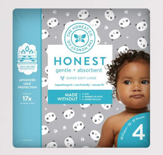 Personal Care - The Honest Co. - Diapers, Size 4, Pandas, 29 Count