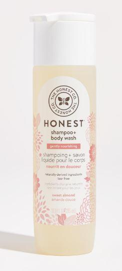 Personal Care - The Honest Co. - Shampoo & Body Wash, Gently Nourishing, Sweet Almond, 296ml