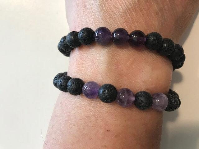 Personal Care - The Nirvana Corporation - Lava Bead Bracelet, Amethyst, Small