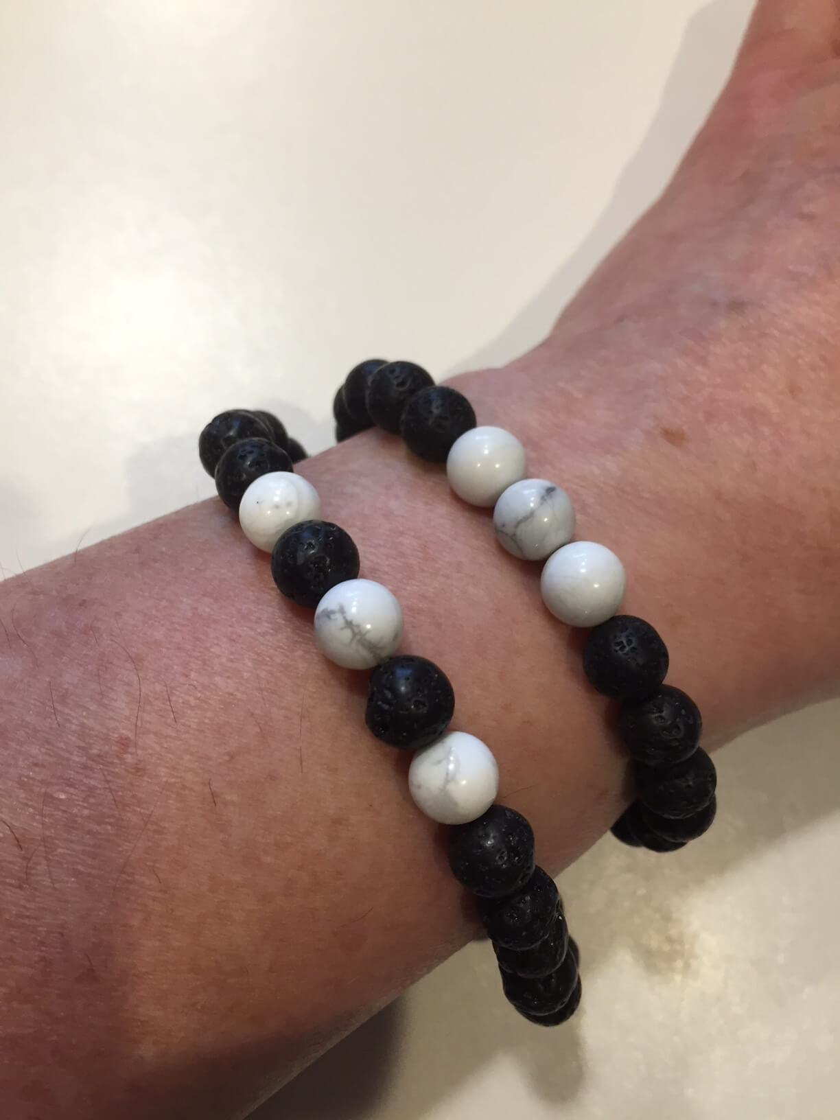 Personal Care - The Nirvana Corporation - Lava Bead Bracelet, Howlite, Medium