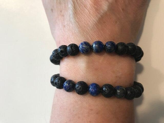 Personal Care - The Nirvana Corporation - Lava Bead Bracelet, Lapis Lazuli, Medium