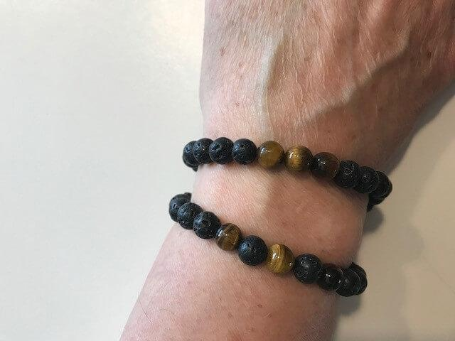 Personal Care - The Nirvana Corporation - Lava Bead Bracelet, Tiger Eye, Large