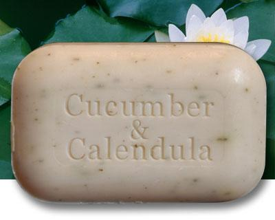 Personal Care - The Soap Works - Cucumber & Calendula Soap - 110g