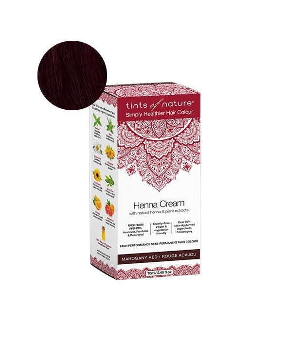 Personal Care - Tints Of Nature - Henna Cream, Mahogany Red, 70ml