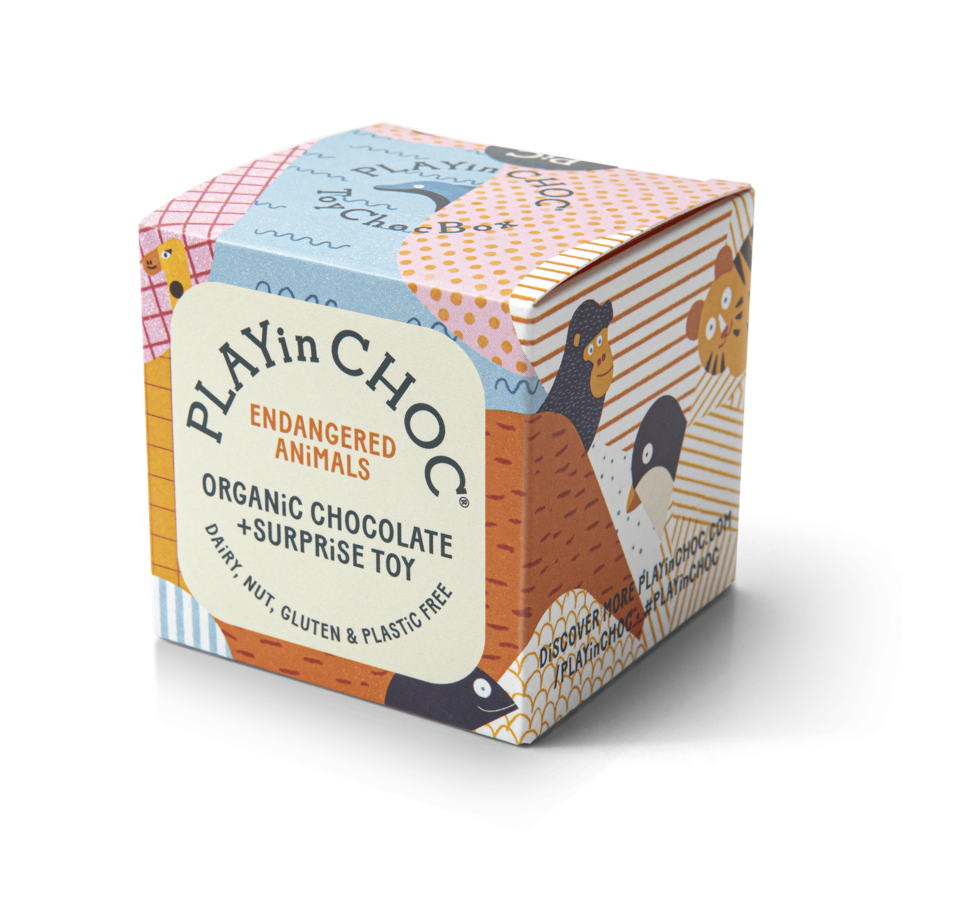 Play In Choc - ToyChoc Box, Endangered Animals, 50g