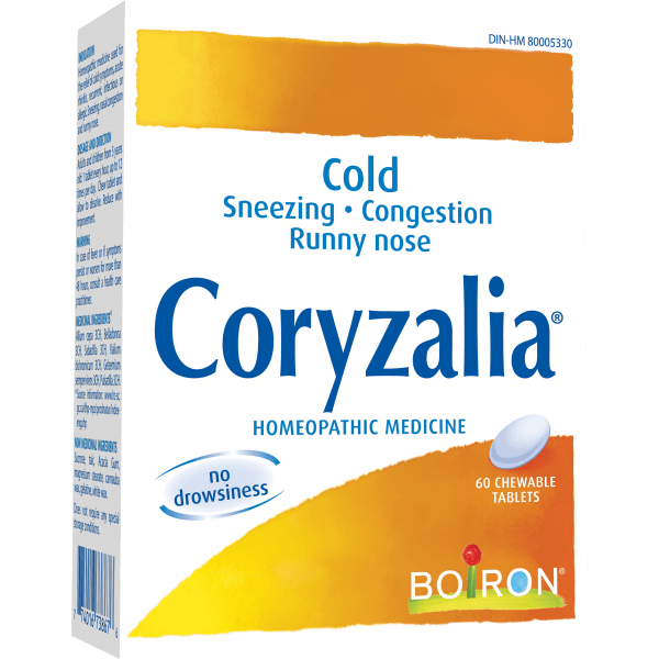 Supplements - Boiron - Coryzalia, 60 Chews