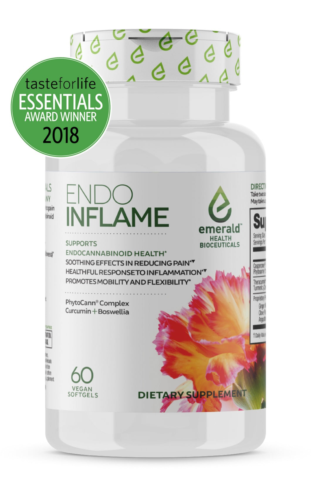 Supplements - Emerald Health Naturals - Endo Inflame, 60 Vegan Softgels