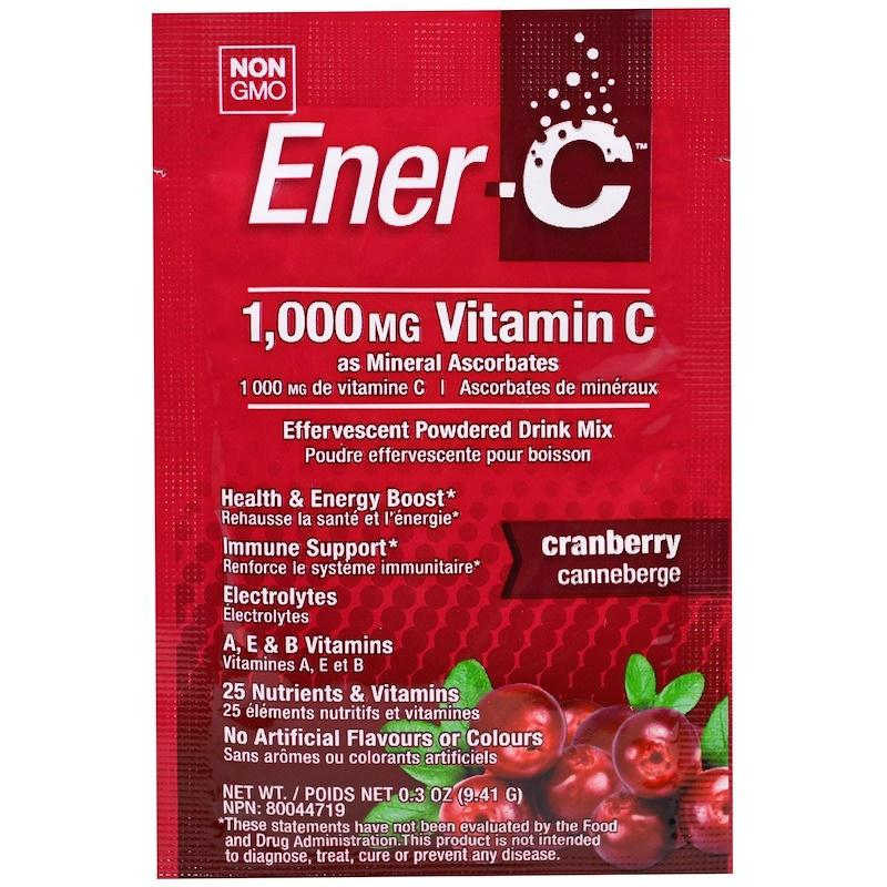 Supplements - Ener-C - Cranberry - 9.34g