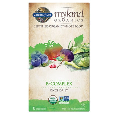 Supplements - Garden Of Life - Mykind Organics Daily B-Complex, 30 Tabs