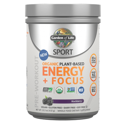 Supplements - Garden Of Life - Organic Plant-Based Energy + Focus, 432g