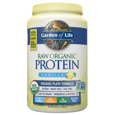 Supplements - Garden Of Life Raw Organic Protein Vanilla 624g
