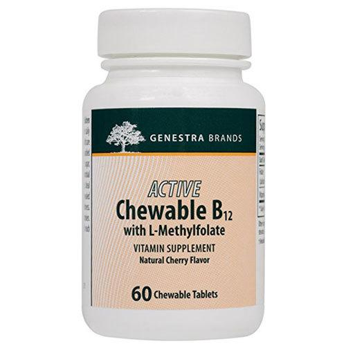 Supplements - Genestra Active B12 With Folic Acid 60 Tabs