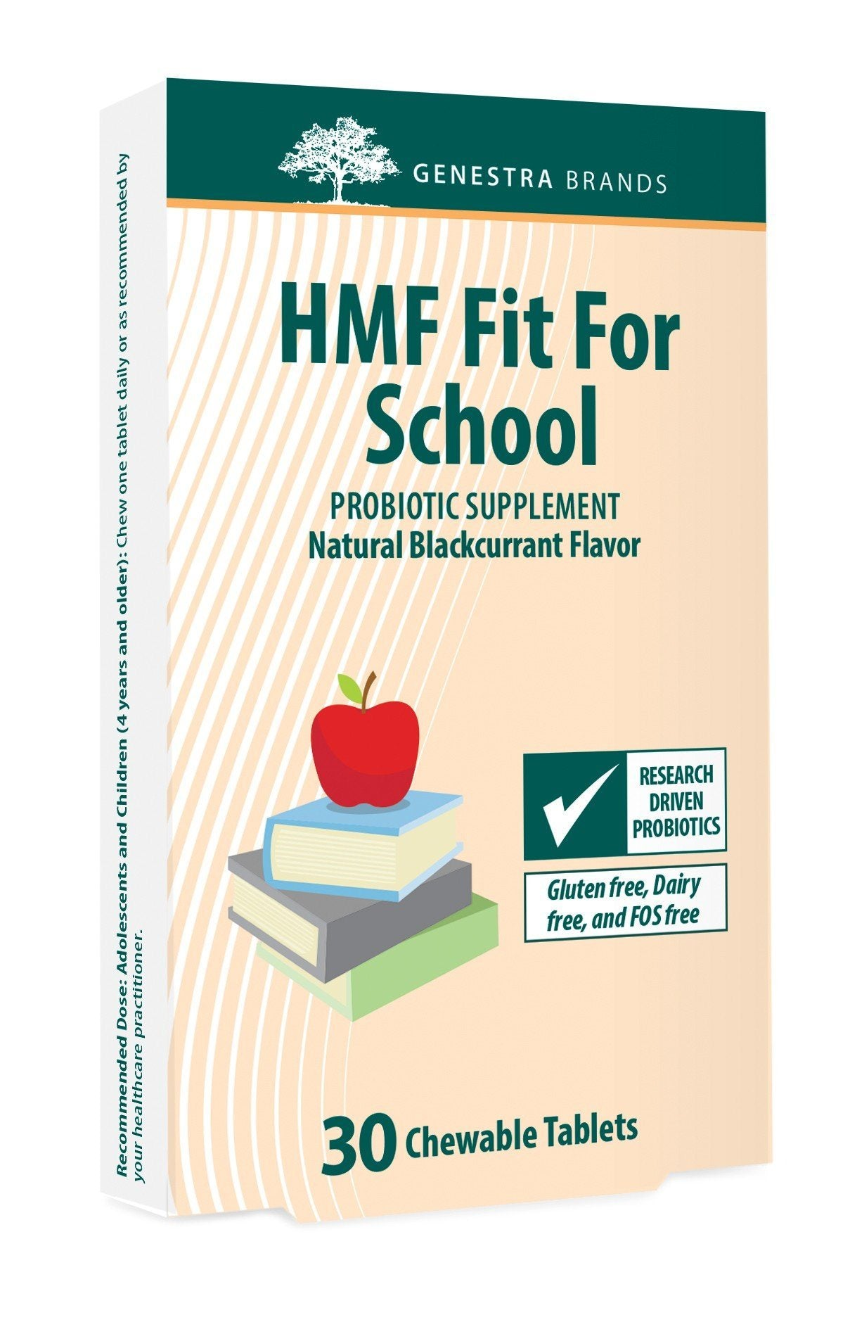 Supplements - Genestra Hmf Fit For School 30 Chewable Tablets