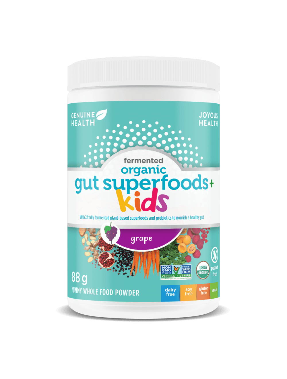 Supplements - Genuine Health - Kids Fermented Gut Superfoods, 88g