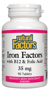 Supplements - Natural Factors - Iron Factors, 90 Tablets