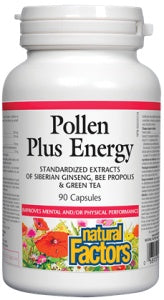 Supplements - Natural Factors - Pollen Plus Energy, 90 Caps