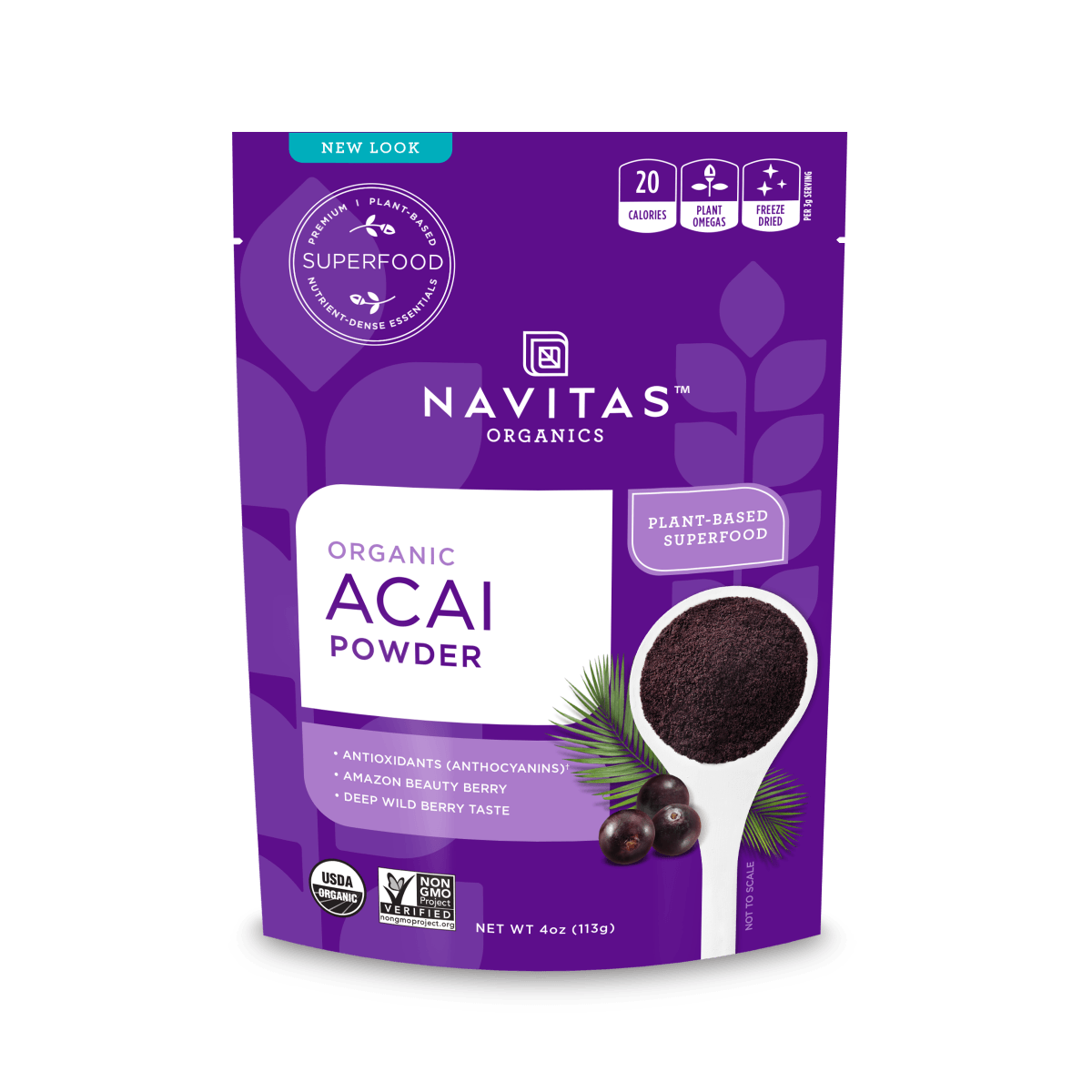 Supplements - Navitas Organics - Acai Powder, 113g