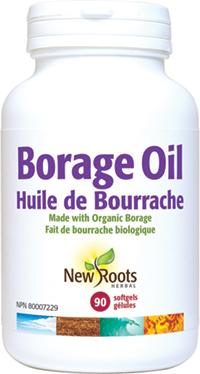 Supplements - New Roots Herbal - Borage Oil, 90 Softgels