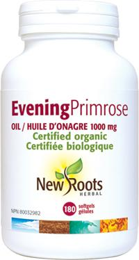 Supplements - New Roots Herbal - Evening Primrose Oil (1000mg), 180 Softgels