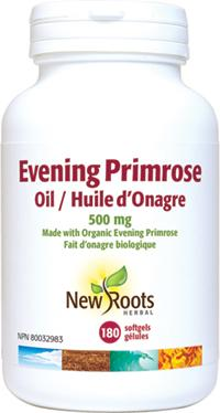 Supplements - New Roots Herbal - Evening Primrose Oil (500mg), 180 Softgels