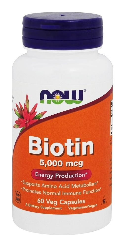 Supplements - NOW - Biotin 5000mcg - 60 Caps