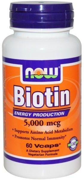 Supplements - NOW Biotin 5000mcg 60caps