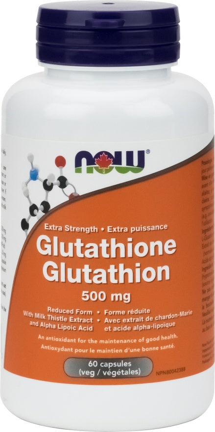 Supplements - NOW Glutathione 500mg 60 Caps