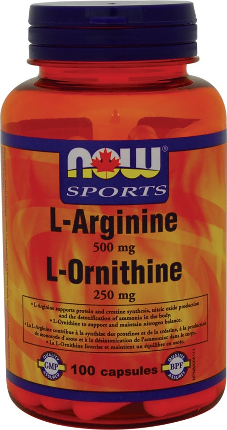 Supplements - NOW L-Arginine L-Ornithine 100 Caps