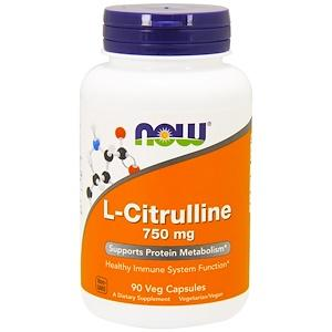 Supplements - NOW L-Citrulline 750mg 90 Caps