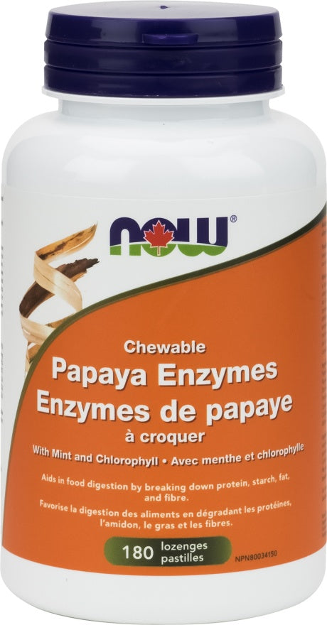Supplements Now Papaya Enzymes 180 Chewable Tabs