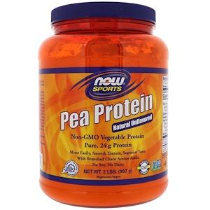 Supplements - NOW  Pea Protein Unflavoured 907g