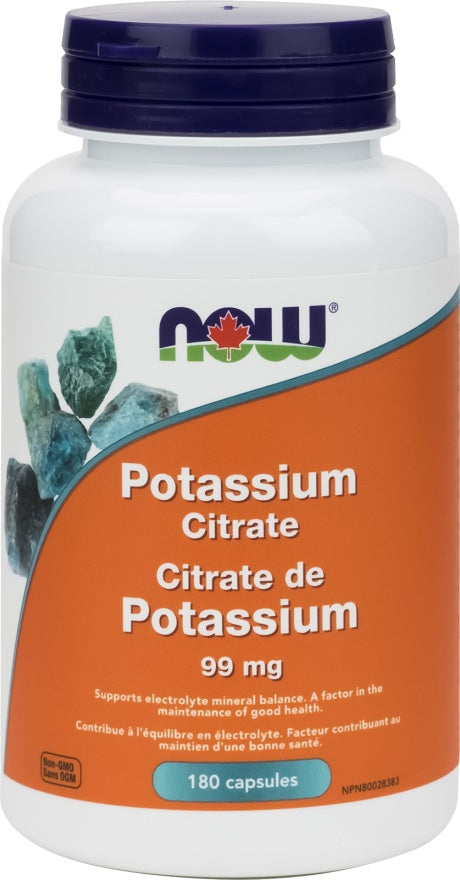 Supplements - NOW Potassium Citrate 99mg 180caps