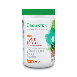 Supplements - Organika - Beef Bone Broth Ginger Protein Powder, 300g