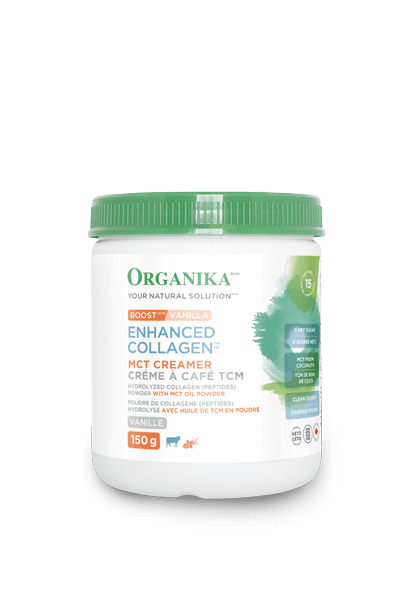 Supplements - Organika - Enhanced Collagen Boost With MCT - Vanilla, 150g