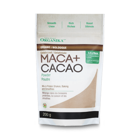 Supplements - Organika - Organic Maca + Cacao Powder, 200g