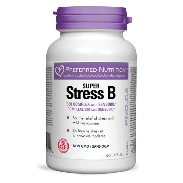 Supplements - Preferred Nutrition - Super Stress B50 Complex, 60 Capsules