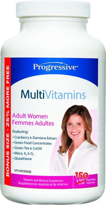 Supplements - Progressive - Multivitamin Adult Women, 150 Vegetable Capsules