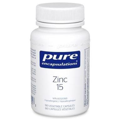 Supplements - Pure Encapsulations Zinc 15 Picolinate - 180 Caps