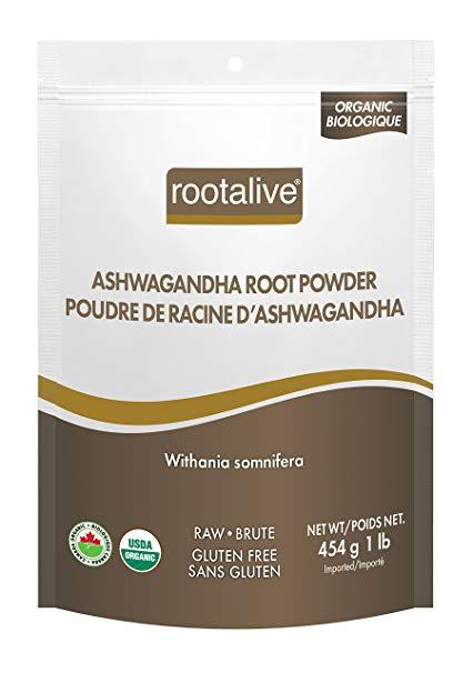 Supplements - Rootalive - Organic Ashwagandha Root Powder, 454g