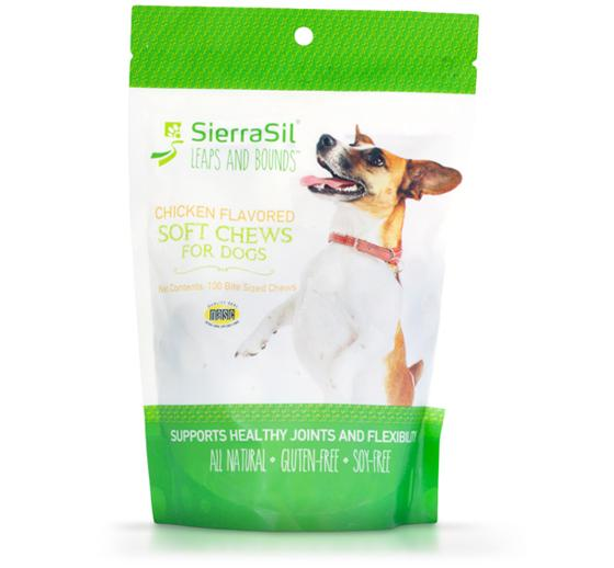 Supplements - Sierrasil Leaps & Bounds Dog Chews - 100 Chews