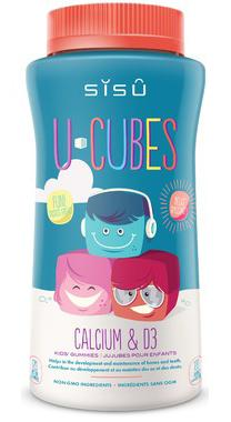 Supplements - Sisu U-Cubes Calcium And D3 - 120 Gummies