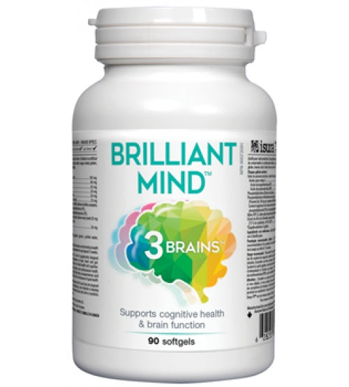 Supplements & Vitamins - 3 Brains - Brilliant Mind, 90 SOFT GELS