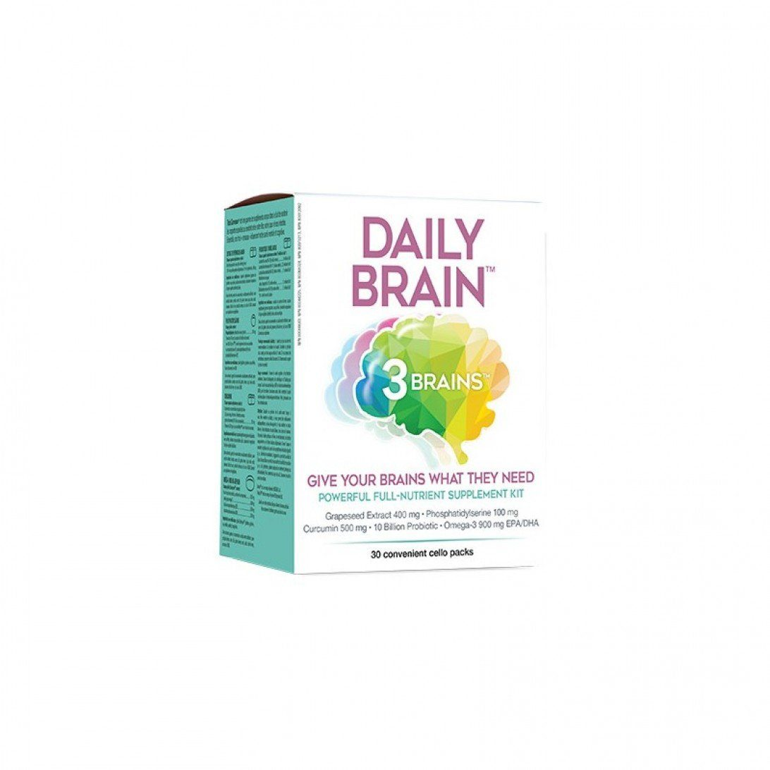 Supplements & Vitamins - 3 Brains - Daily Brain, 30 PACKETS
