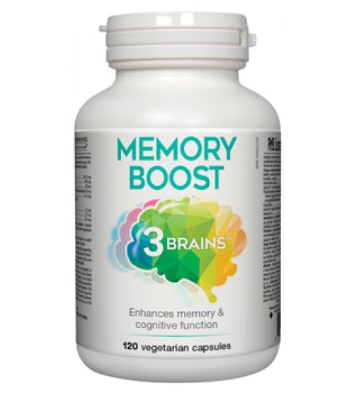 Supplements & Vitamins - 3 Brains - Memory Boost, 120VCAPS