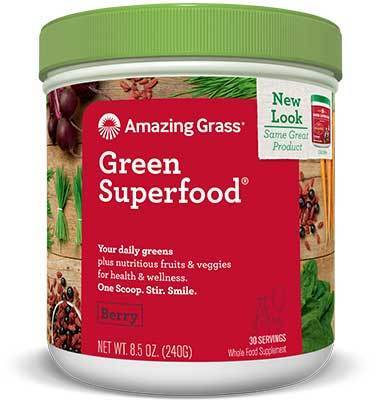Supplements & Vitamins - Amazing Grass - Green Super Food Berry, 240g