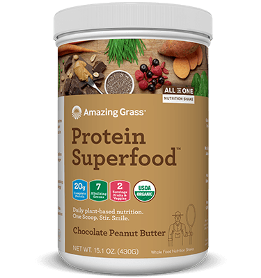 Supplements & Vitamins - Amazing Grass - Protein Superfood Chocolate Peanut - 430