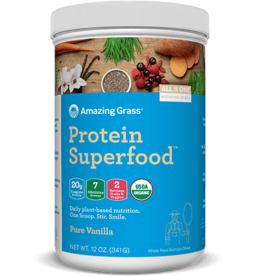 Supplements & Vitamins - Amazing Grass - Protein Superfood Pure Vanilla - 341G