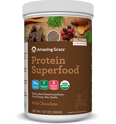 Supplements & Vitamins - Amazing Grass - Protein Superfood Rich Chocolate - 360G