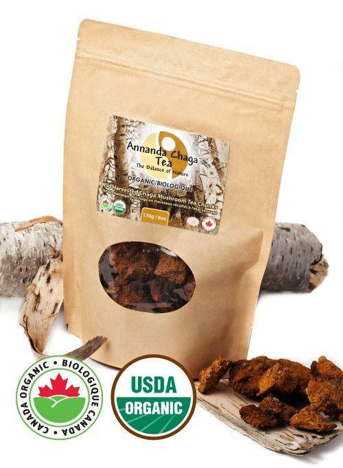Supplements & Vitamins - Annanda Chaga - Chaga Mushroom Tea Chunks, 6oz
